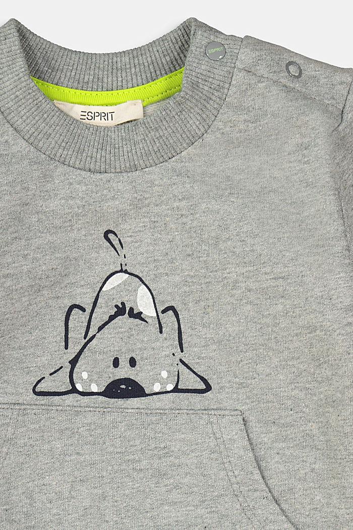 Sweatshirt mit Tier-Motiv, 100% Bio-Baumwolle, DARK GREY, detail image number 2
