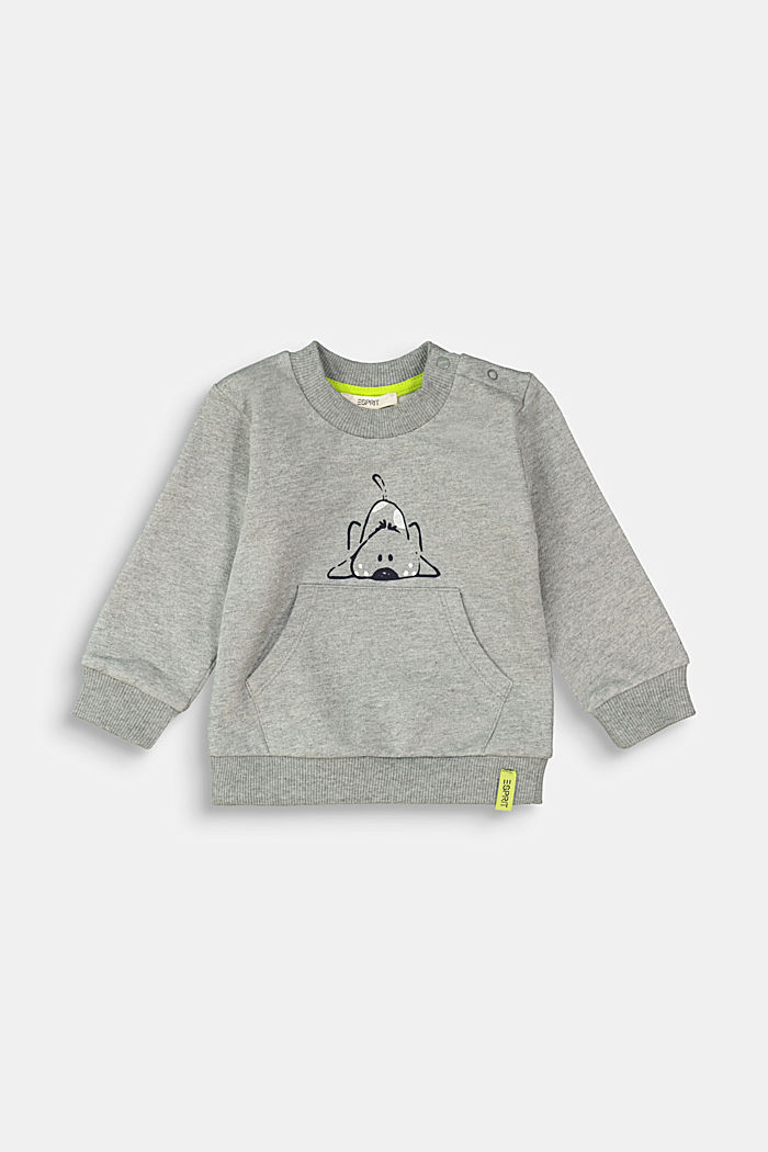 Animal motif sweatshirt, 100% organic cotton