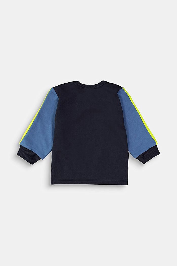 Printed sweatshirt made of 100% organic cotton, NAVY, detail image number 1