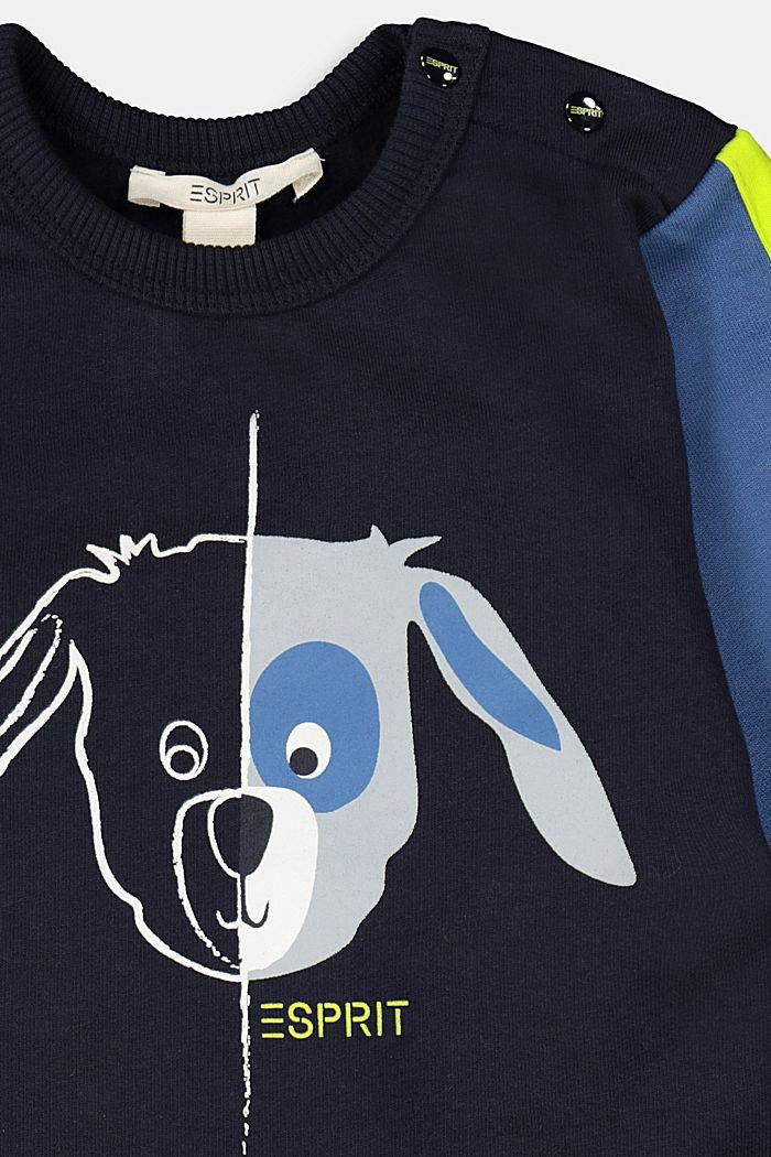 Printed sweatshirt made of 100% organic cotton, NAVY, detail image number 2