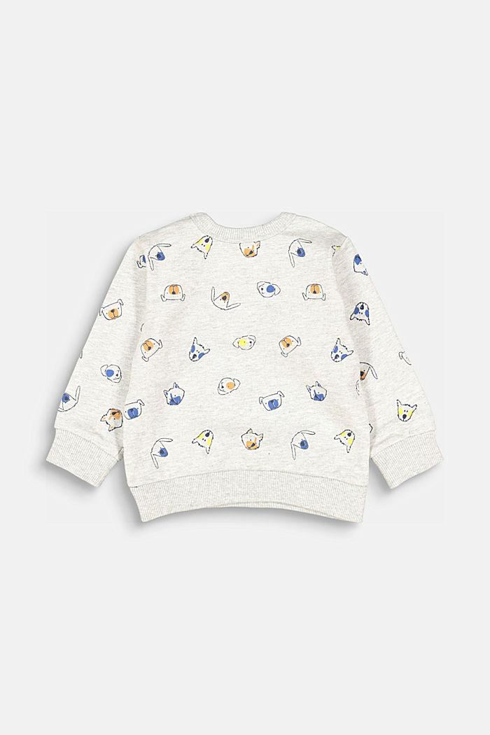 Animal print sweatshirt, 100% organic cotton, MEDIUM GREY, detail image number 0