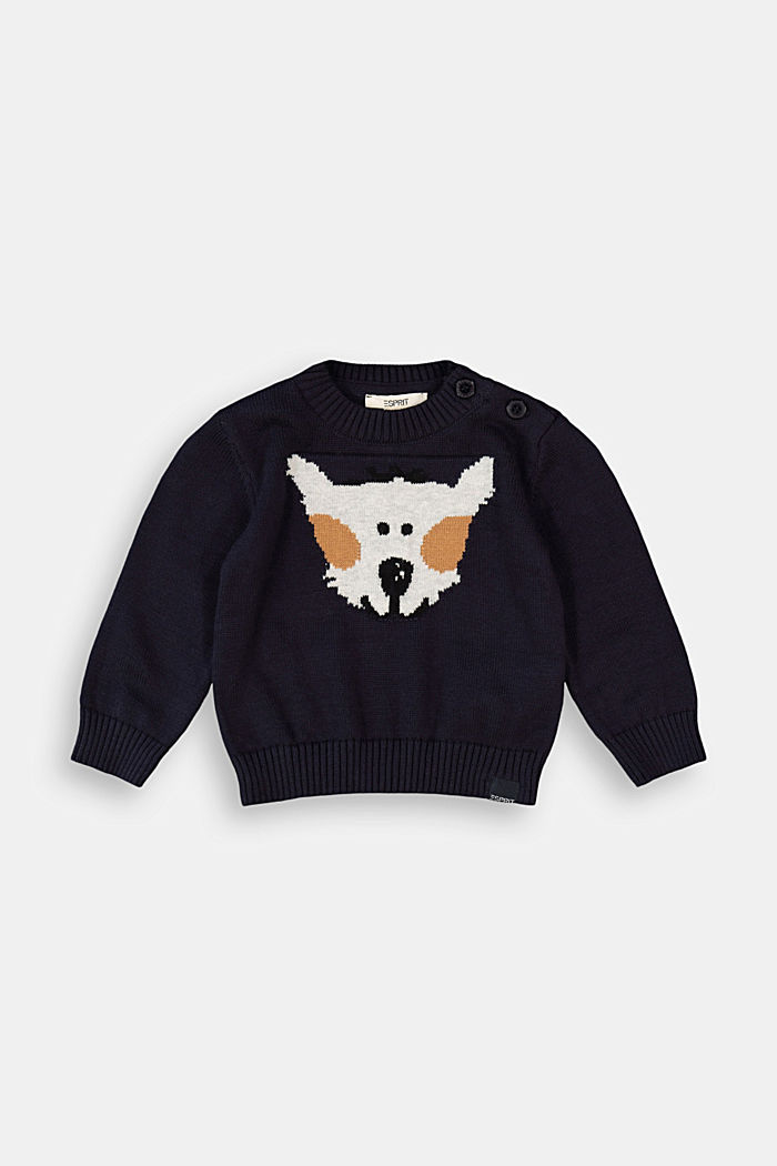 Jumper with an animal motif, 100% organic cotton
