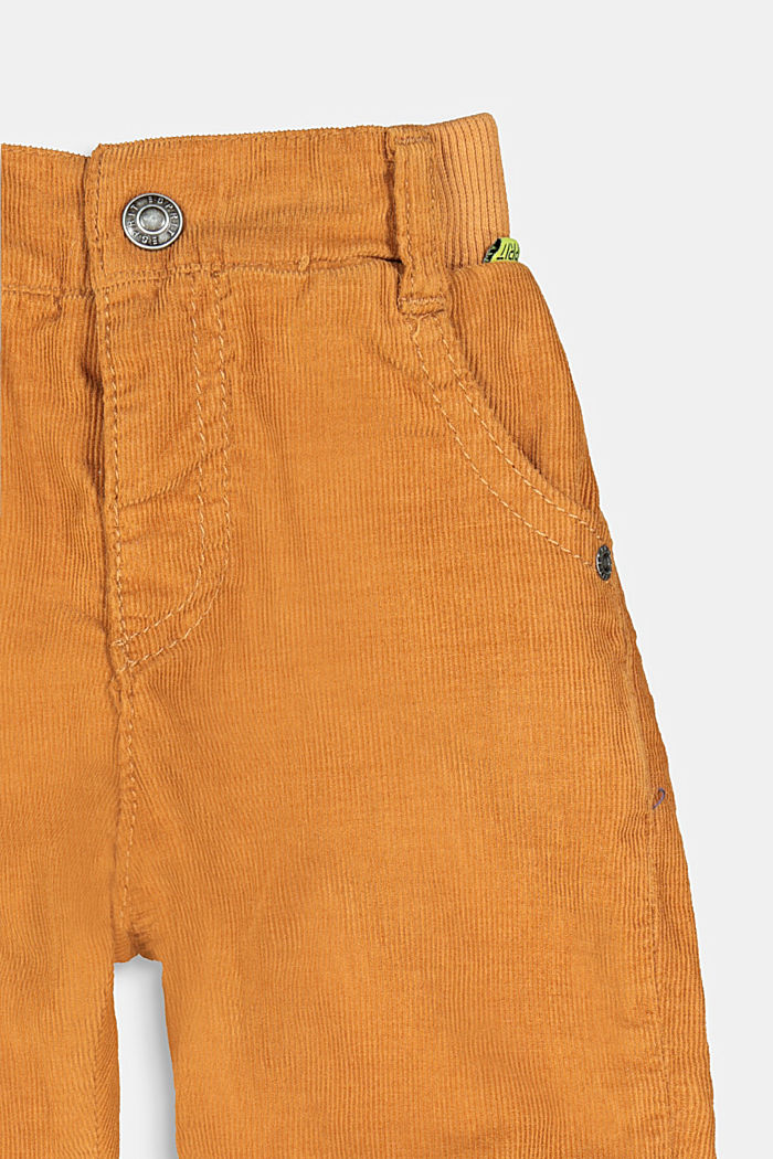 Pull-on corduroy trousers with jersey lining, CAMEL, detail image number 2