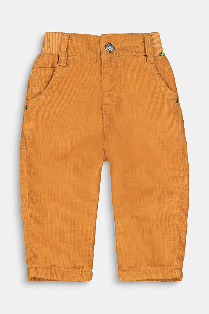Pull-on corduroy trousers with jersey lining, CAMEL, detail image number 0