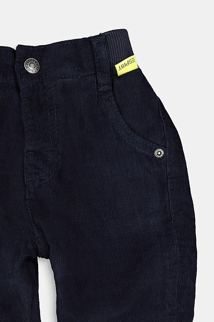 Pull-on corduroy trousers with jersey lining, NAVY, detail image number 2
