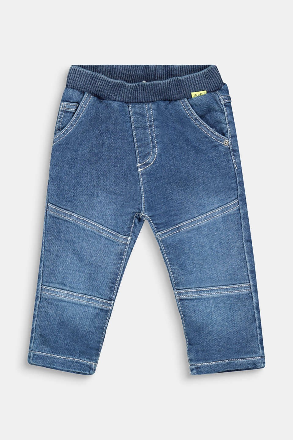 Esprit - Slip-on jeans with jersey lining