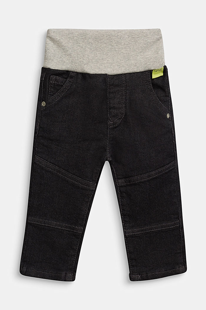 Organic cotton jeans with a ribbed waistband