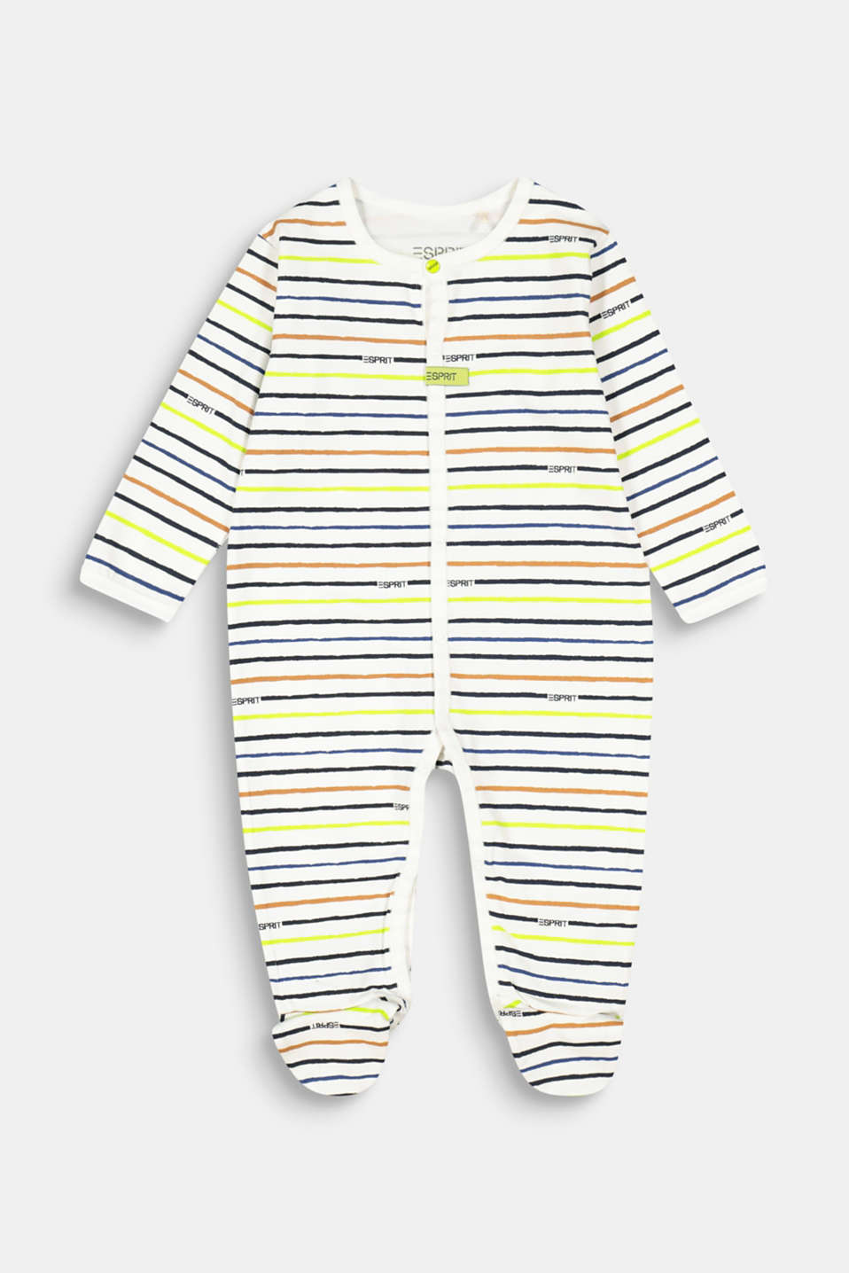 Esprit - Romper suit with a striped print, organic cotton