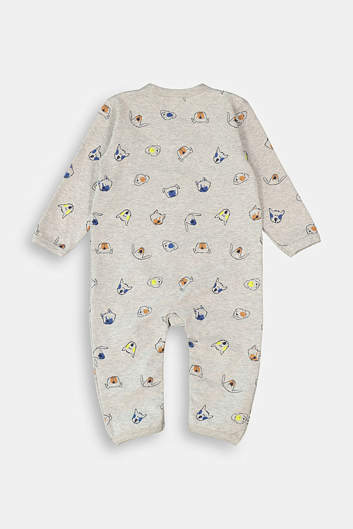 Romper suit made of 100% organic cotton, MEDIUM GREY, detail image number 1