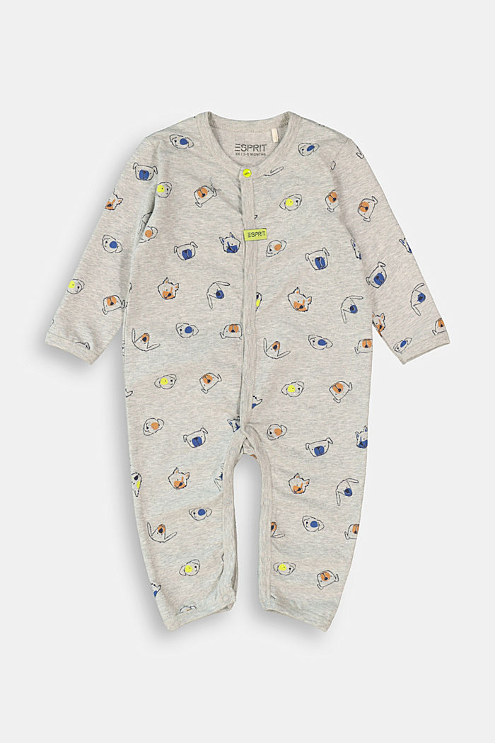 Romper suit made of 100% organic cotton, MEDIUM GREY, detail image number 0