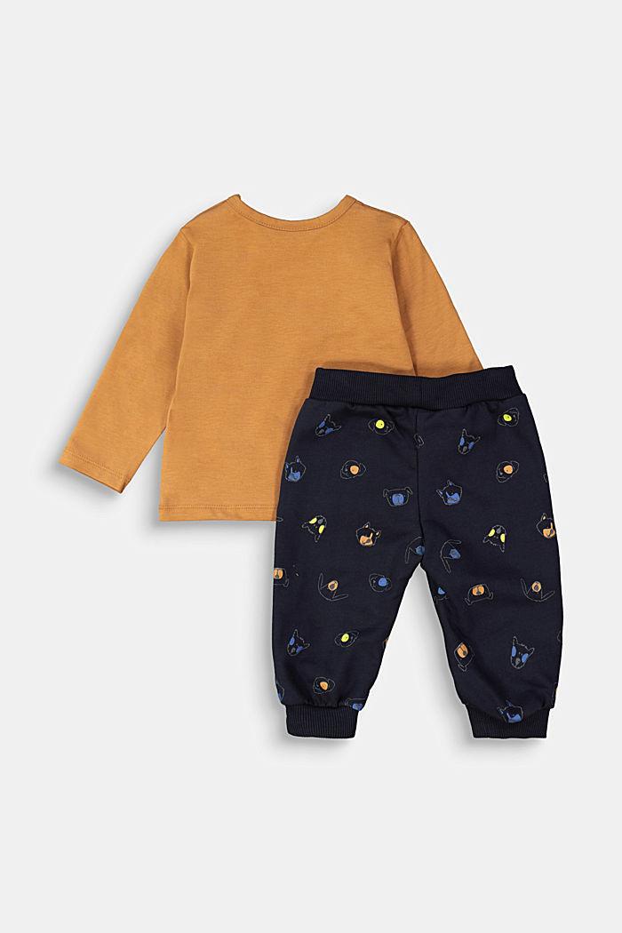 Sæt: overdel og bukser, økologisk bomuld, CAMEL, detail image number 1