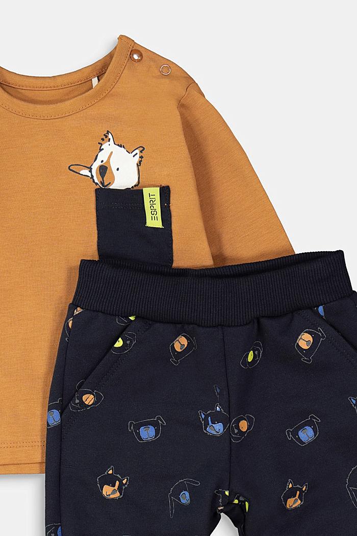 Sæt: overdel og bukser, økologisk bomuld, CAMEL, detail image number 2
