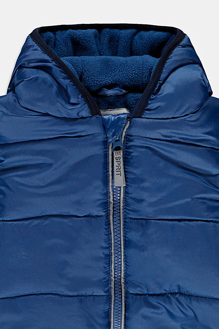 Padded quilted jacket with fleece lining, BLUE, detail image number 2