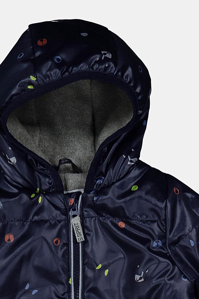 Schneeanzug mit Fleecefutter und Print, NAVY, detail image number 1