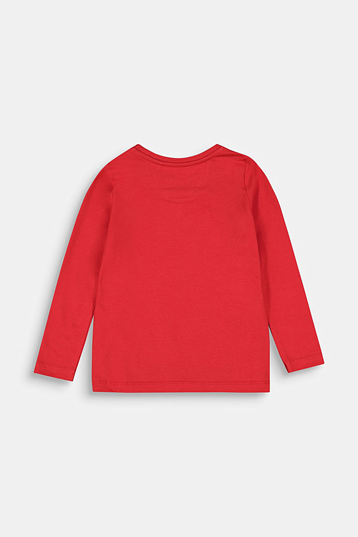 Long sleeve top with a horse print, RED, detail image number 1