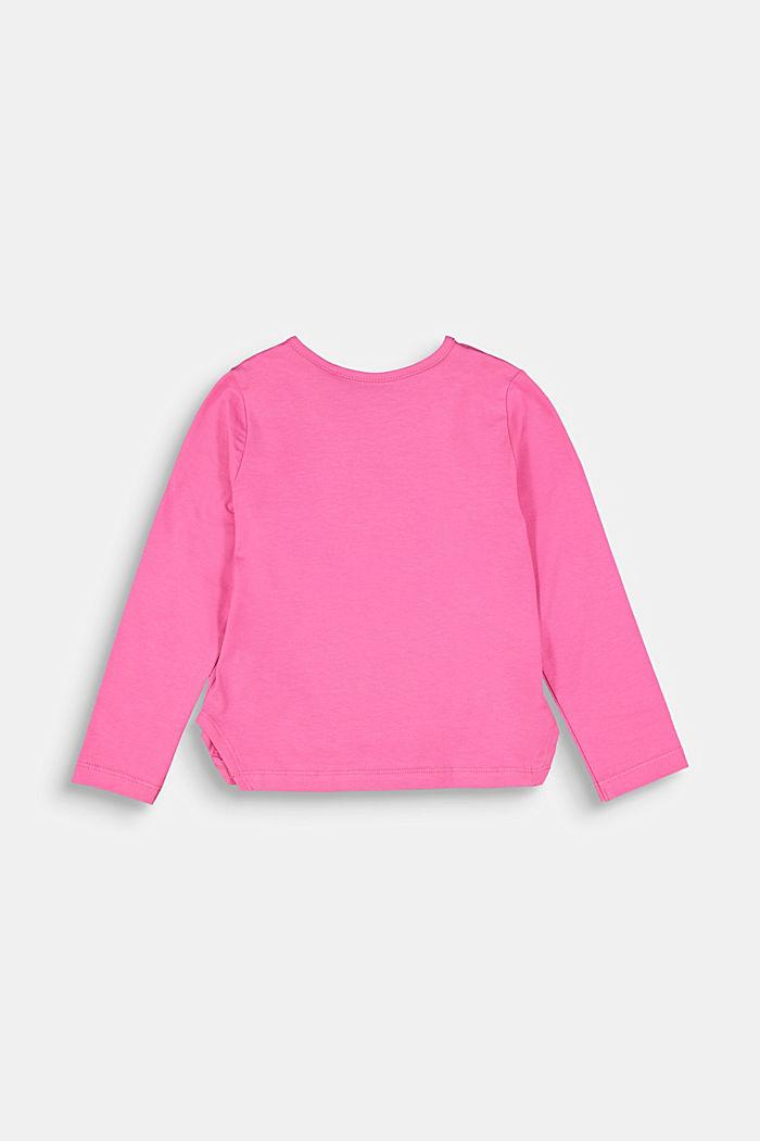 Shirt mit Flock-Print und Pailletten, PINK, detail image number 1