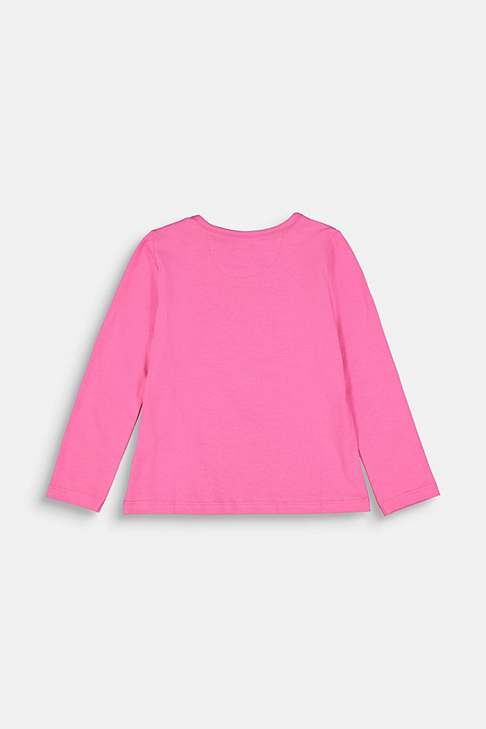 Long sleeve top with a heart print, PINK, detail image number 1