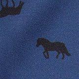 Bluse im Western-Stil mit Pferde-Print, BLUE, swatch