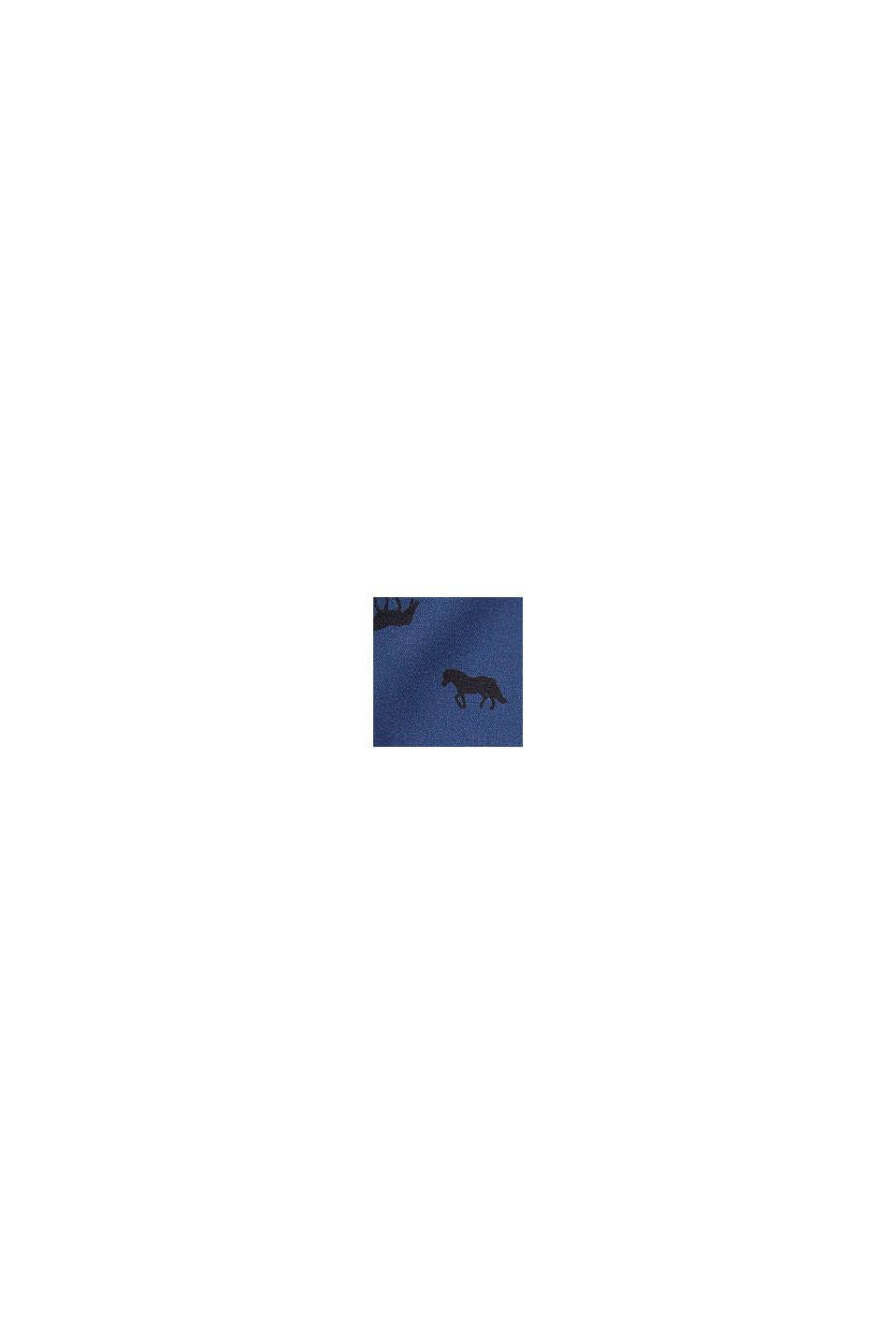 Bluzka w stylu westernu z nadrukiem z koniem, BLUE, swatch