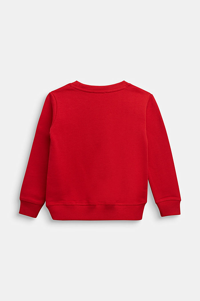 Sweatshirt in 100% cotton, RED, detail image number 1