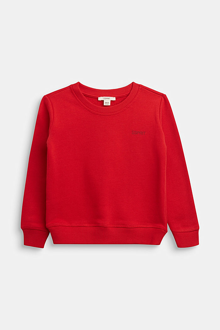 Sweatshirt in 100% cotton, RED, detail image number 0