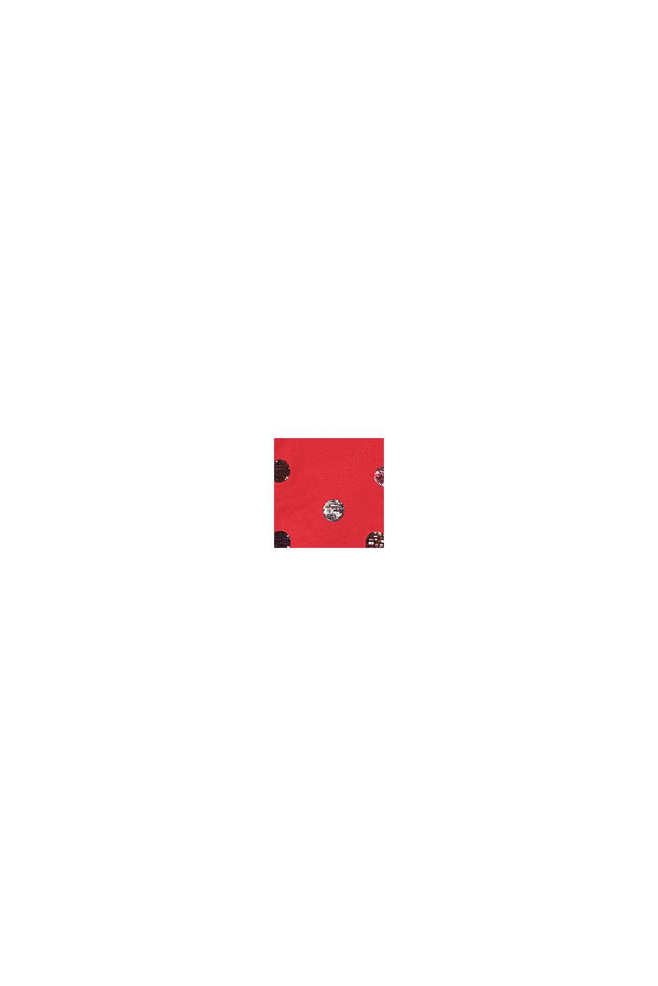 Bluza z kapturem i cekinami, 100% bawełny, RED, swatch