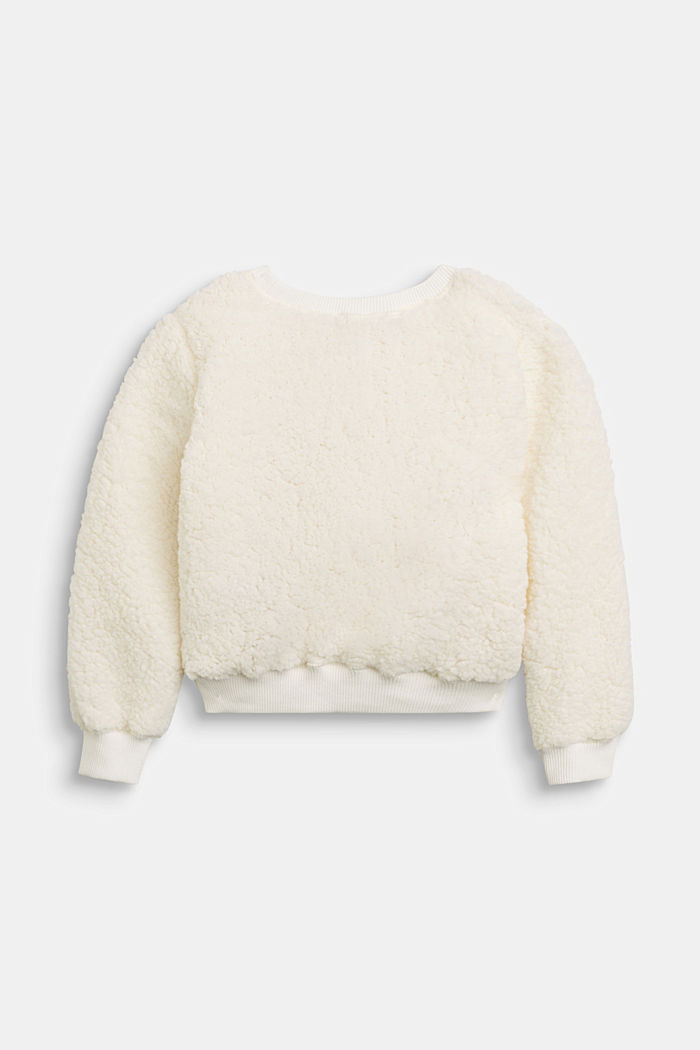 Flauschiges Sweatshirt mit Pferde-Stickerei
