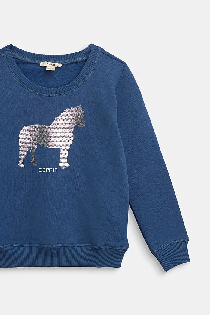 Sweat-shirt à imprimé brillant, BLUE, detail image number 2