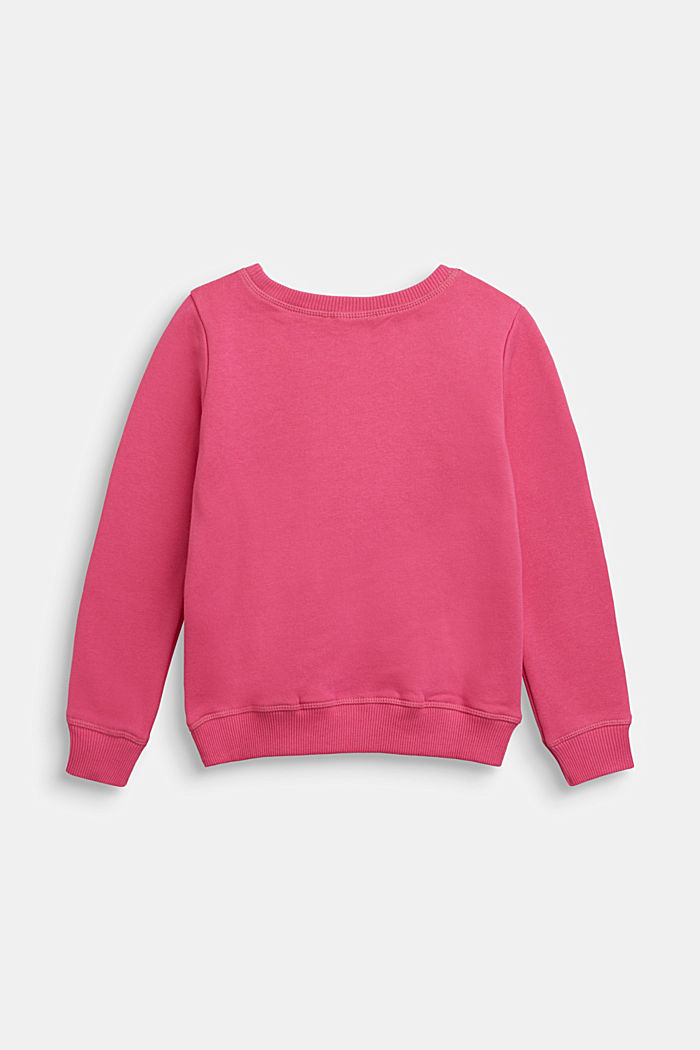 Sweatshirt with a shiny print, PINK, detail image number 1