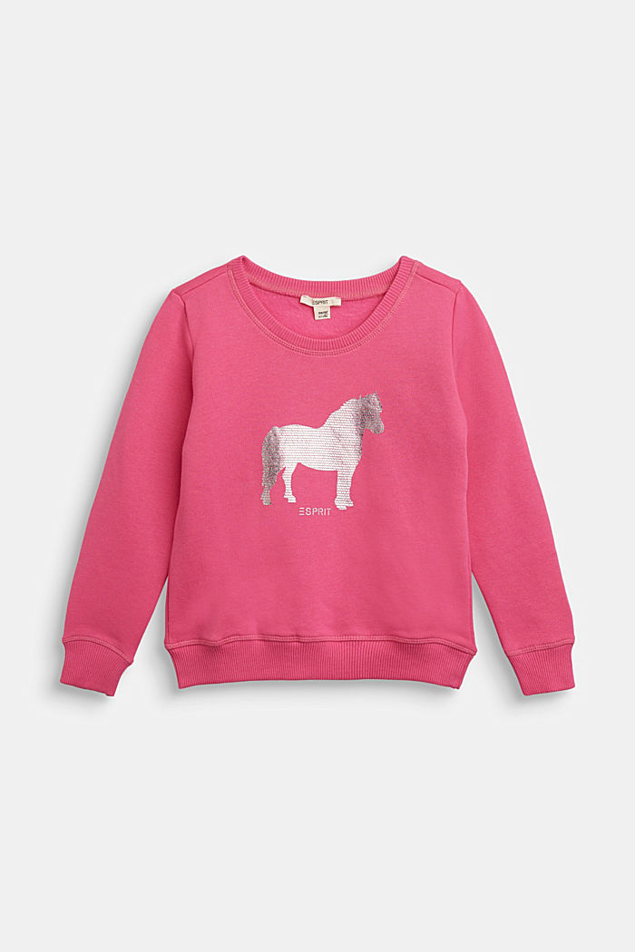 Sweatshirt with a shiny print, PINK, detail image number 2