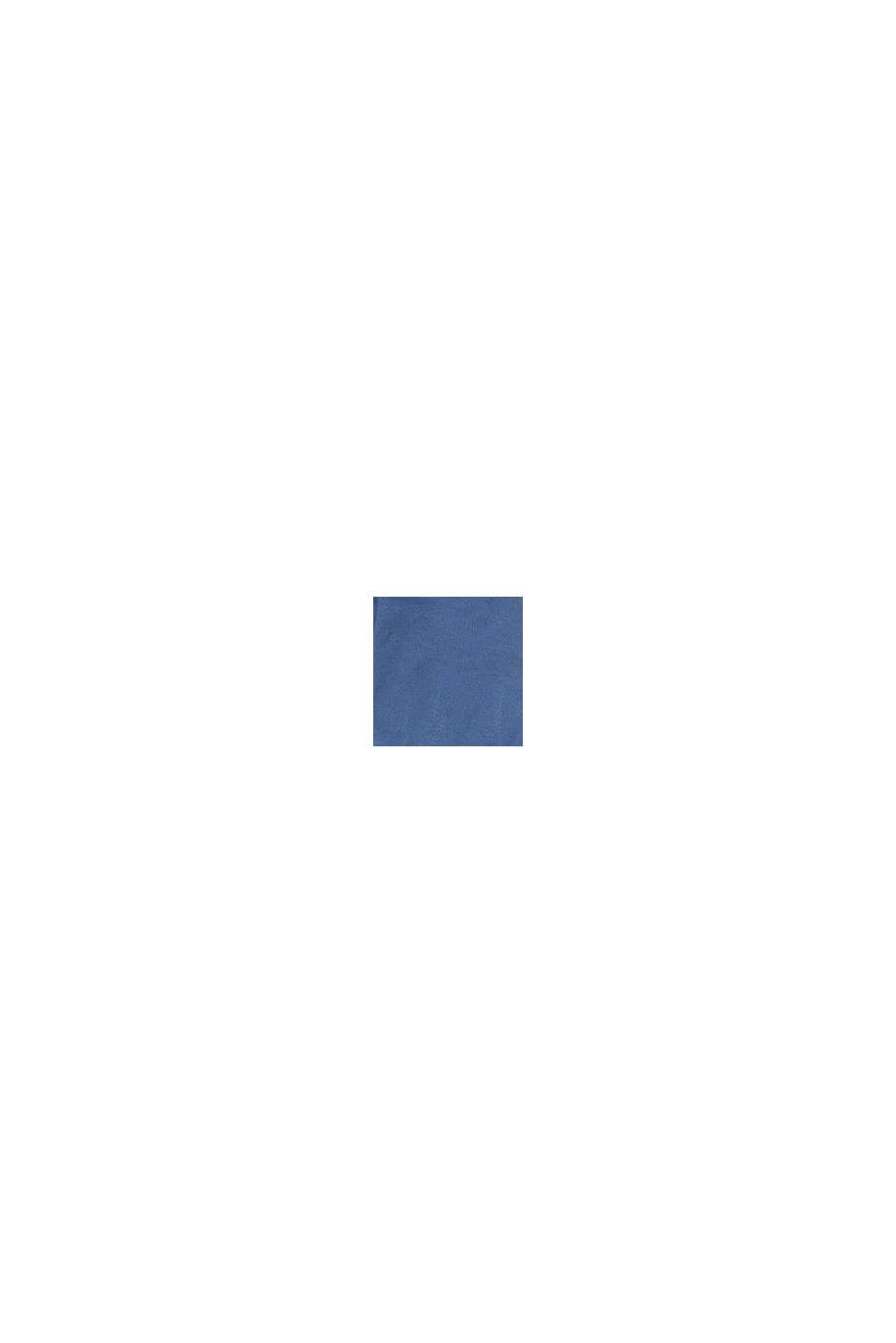 Cardigan à capuche en pur coton, BLUE, swatch