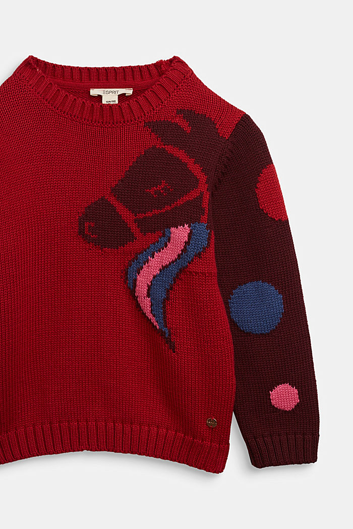 Sweaters, RED, detail image number 2