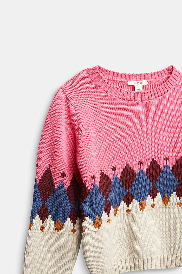 Pullover con motivo jacquard, PINK, detail image number 2
