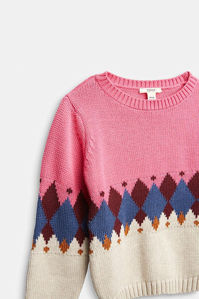 Pullover mit Jacquard-Muster, PINK, detail image number 2
