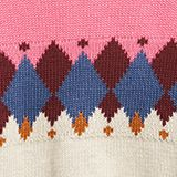 Jumper with jacquard pattern, PINK, swatch