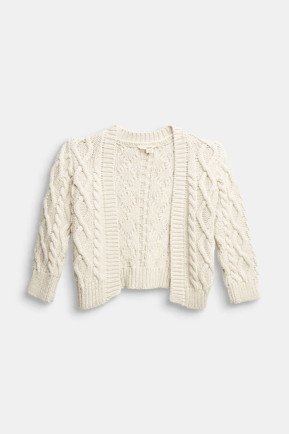 Esprit - Open-fronted cable knit cardigan