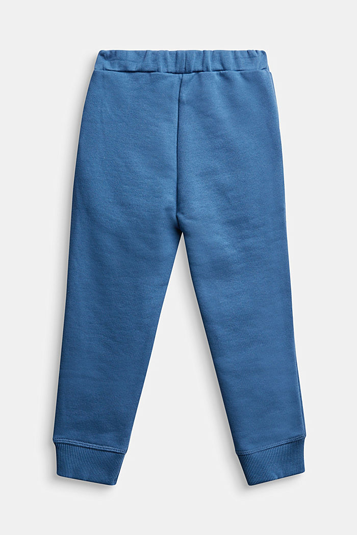 Tracksuit bottoms made of 100% cotton, BLUE, detail image number 1