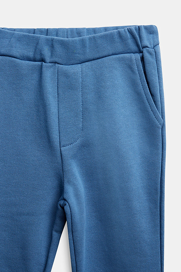 Tracksuit bottoms made of 100% cotton, BLUE, detail image number 2