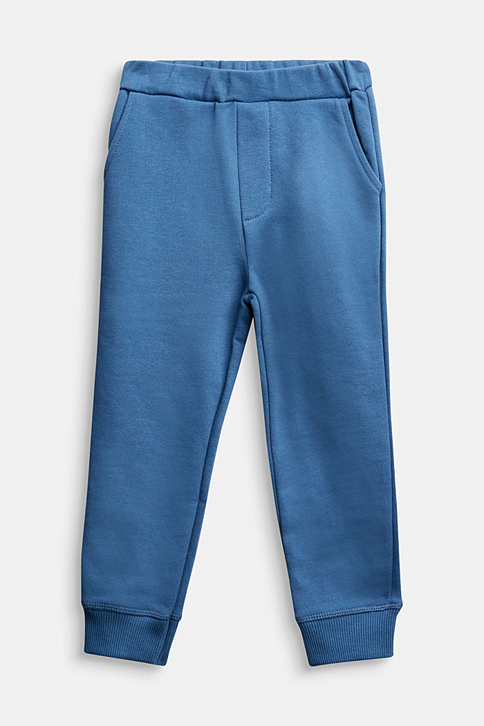 Tracksuit bottoms made of 100% cotton, BLUE, detail image number 0