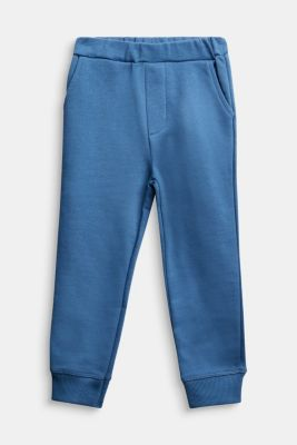 Tracksuit bottoms made of 100% cotton, BLUE, detail