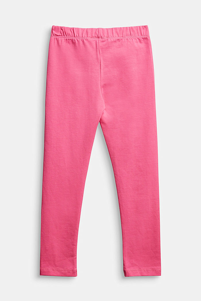 Stretch cotton leggings, PINK, detail image number 1