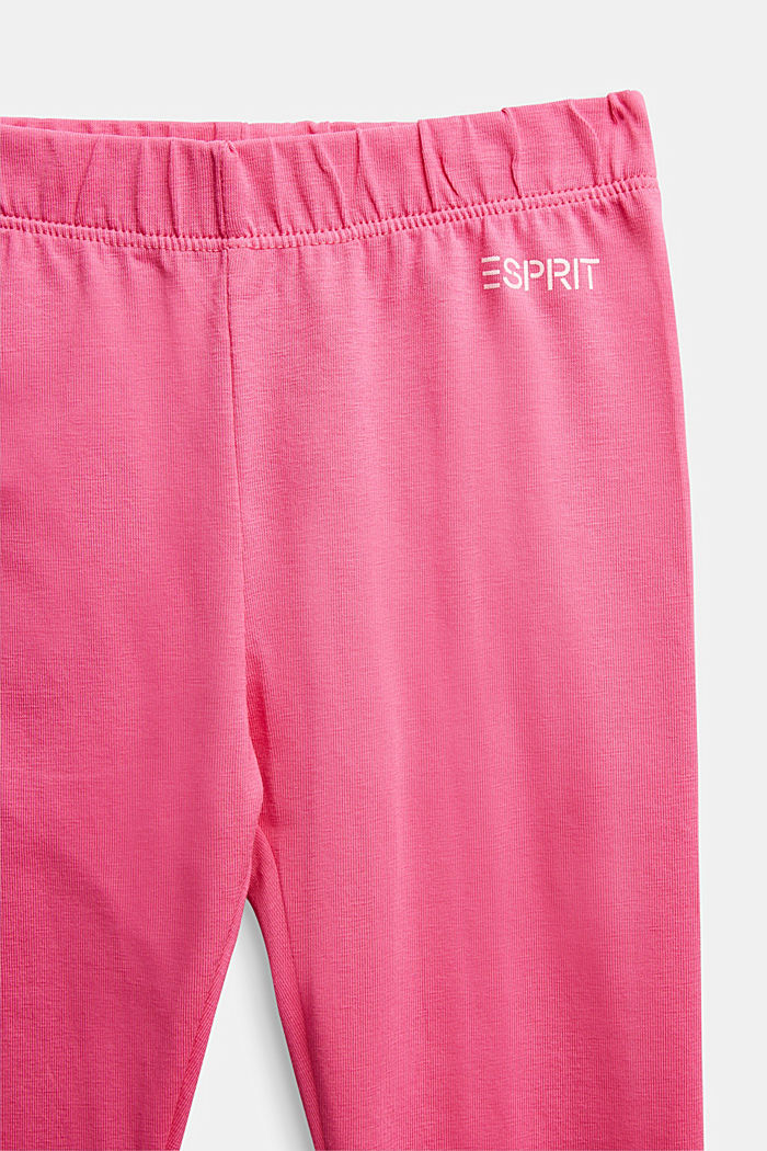 Stretch cotton leggings, PINK, detail image number 2