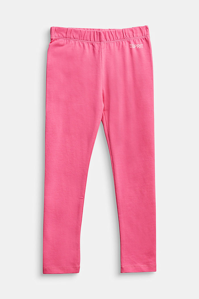 Stretch cotton leggings, PINK, detail image number 0