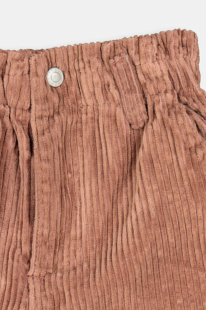 Cord-Shorts aus 100% Baumwolle, DARK BROWN, detail image number 2