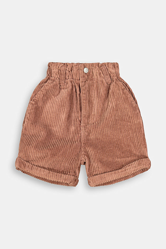 Cord shorts made of 100% cotton