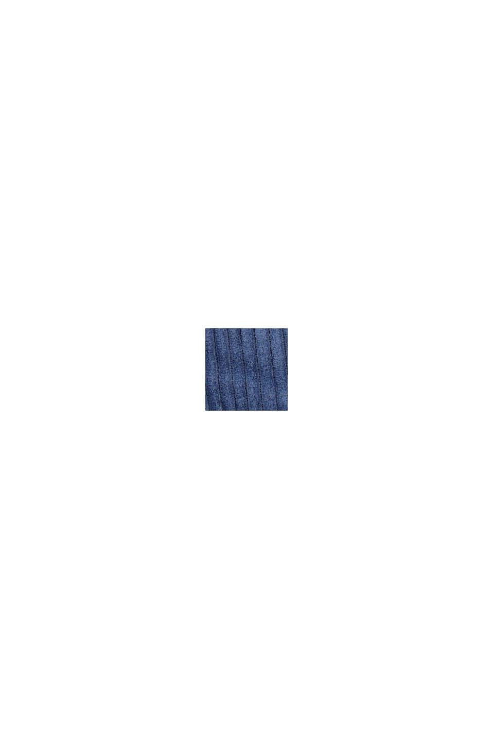 Corduroy rok met elastische paperbag-band, BLUE, swatch