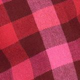Karierter Faltenrock mit elastischem Bund, RED, swatch