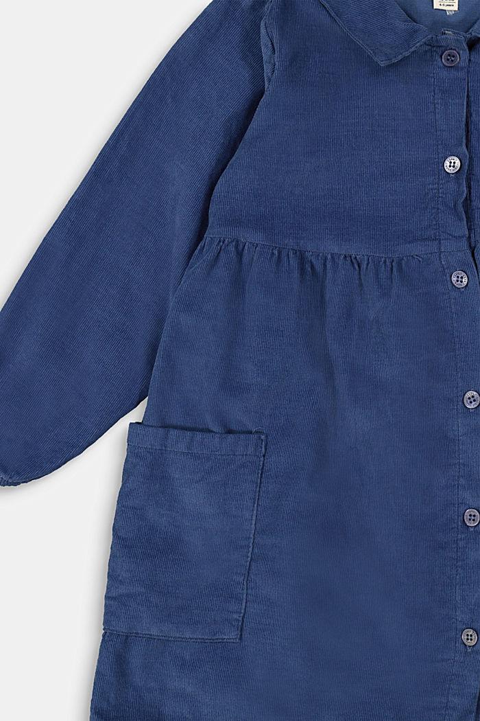 Cotton-needlecord shirt dress, BLUE, detail image number 2