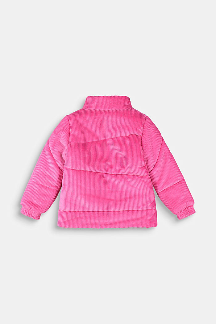 Padded outdoor jacket made of corduroy, PINK, detail image number 1