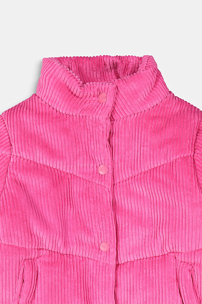Padded outdoor jacket made of corduroy, PINK, detail image number 2